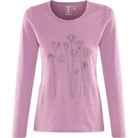Elkline Blütezeit T-shirt à manches longues GOTS Femme, duskypink